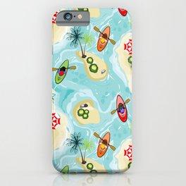 Kayaking through island iPhone Case