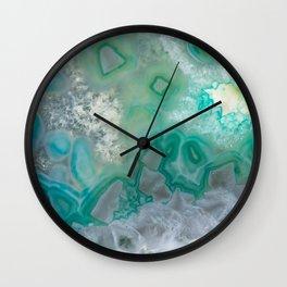 Teal Quartz Geode Wall Clock