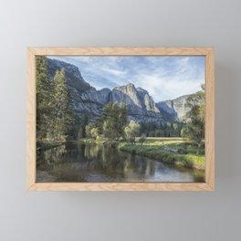 Yosemite Falls from Cook's Meadow Framed Mini Art Print