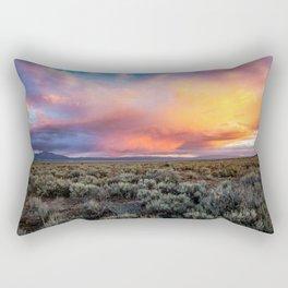 Enchanted Evening - Colorful Storm Cloud Over Desert near Taos, New Mexico Rectangular Pillow