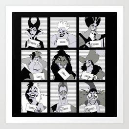 D Villains in Jail Art Print
