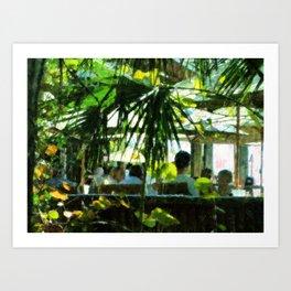 Dining Al Fresco Art Print