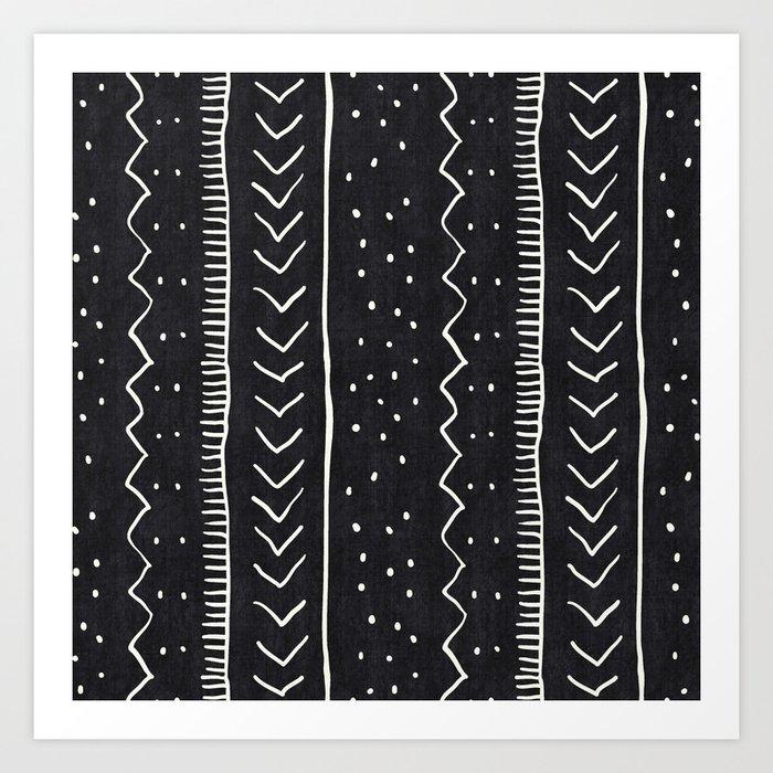 Moroccan Stripe in Black and White Kunstdrucke