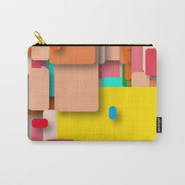 rounded rectangles Carry-All Pouch
