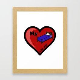 My Bed Is My OTP Framed Art Print