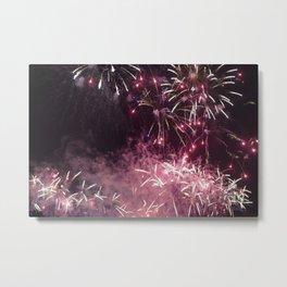 Pink Fireworks @ One Fullerton, Singapore. Metal Print