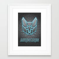 transformers Framed Art Prints featuring Autocats Transformers by Enrique Valles