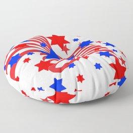PATRIOTIC JULY 4TH AMERICAN FLAG ART Floor Pillow