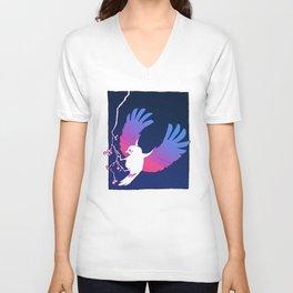 Bird, Night Unisex V-Neck