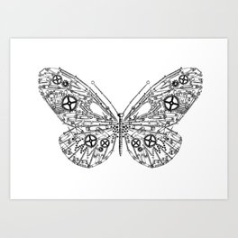 IRON BUTTERFLY Art Print