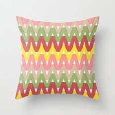 Summer Pattern 8 (Hot Dog) Throw Pillow