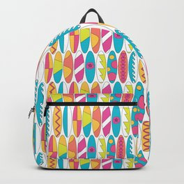 Rainbow Colored Waikiki Surfboards Backpack
