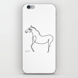 Pablo Picasso, Horse Artwork, Animals Sketch, Prints, Posters, Tshirts, Bags, Men, Women, Kids iPhone Skin