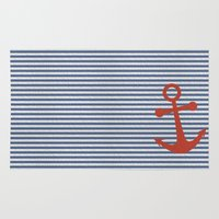 sailor Area & Throw Rugs featuring sailor by zakumy