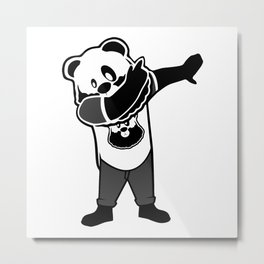 Bearded Panda Dab Metal Print