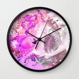 MERMAID ADVENTURE IN PINK Wall Clock