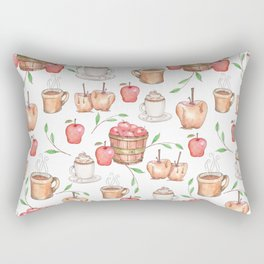All About Apples Pattern -Food Pattern Rectangular Pillow