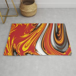 Magma Abstract Rug