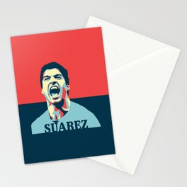 Luis Suarez, number one Uruguayan player. Stationery Cards