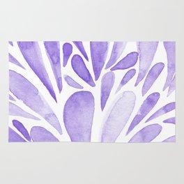 Watercolor artistic drops - lilac Rug