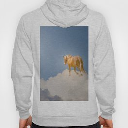 Walking on clouds over the blue sky Hoody