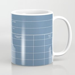 Library Card BSS 28 Negative Blue Coffee Mug