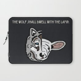 The Wolf Shall Dwell With the Lamb; Laptop Sleeve