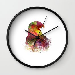 Bald Eagle 02 in watercolor Wall Clock