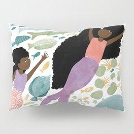 Mermaids and Fish in the Ocean Pillow Sham