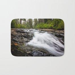 Rush - Paradise River Rushes to Falls in Mt. Rainier National Park Bath Mat