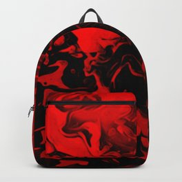 Vampire - red and black gradient swirl pattern Backpack