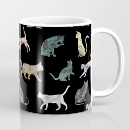 Cats shaped Marble - Black Coffee Mug