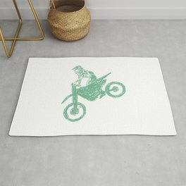 Dirt bike Motocross Rug