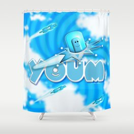 Youm in blue! Shower Curtain