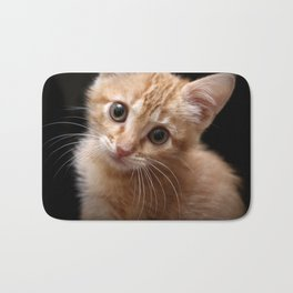A Cute Kitten Looks Longingly at the Camera Bath Mat