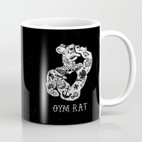 rat Mugs featuring Gym Rat by Textures