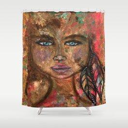 """Emerging"" Original Painting by Krista J. Brock Shower Curtain"
