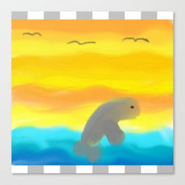 Dolphin In Flight Canvas Print