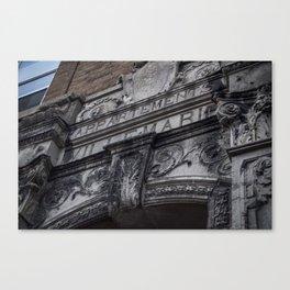 Apartment architecture close up Canvas Print