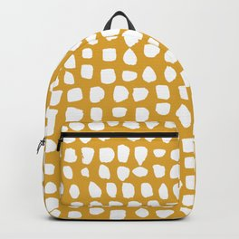 Dots (Mustard) Backpack