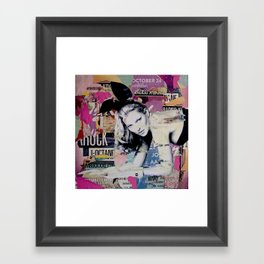 Kate Moss is playin' bad bunny Framed Art Print