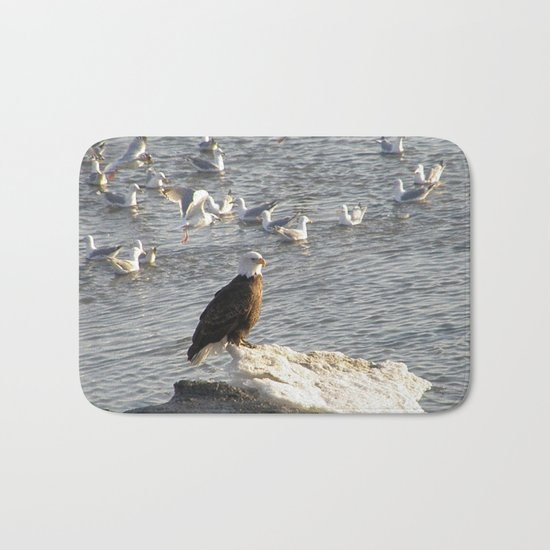 Eagle on Ice Bath Mat