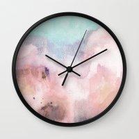 georgiana paraschiv Wall Clocks featuring Nostalgia by Georgiana Paraschiv
