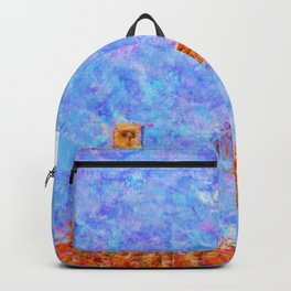 Super Mario Bros World 1-1 Impressionist Painting Backpack