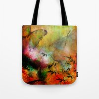 chinese Tote Bags featuring Chinese landscape by Ganech joe