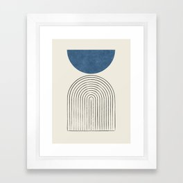 Arch Balance Blue Framed Art Print