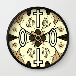 Brown Religion Illustration Wall Clock