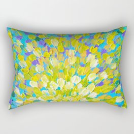 SPLASH 2 - Bright Bold Ocean Waves Beach Ripple Turquoise Aqua Lime Lemon Colorful Rainbow Wow Rectangular Pillow
