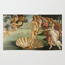 The Birth of Venus (Nascita di Venere) by Sandro Botticelli Rug