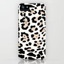 Snow Leopard Seamless Pattern iPhone Case